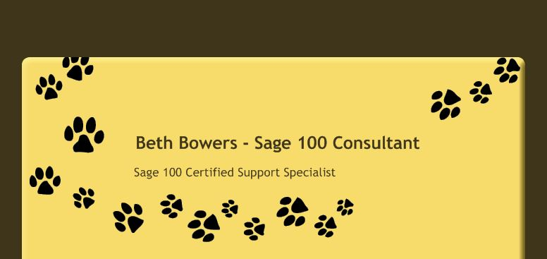 Beth Bowers - Sage 100 Consultant - Home